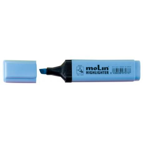 Textmarker varf lat, MOLIN - albastru