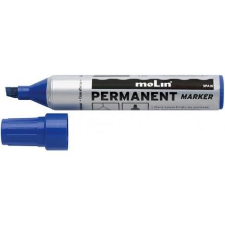 Permanent marker Jumbo, varf tesit, corp plastic, MOLIN - negru