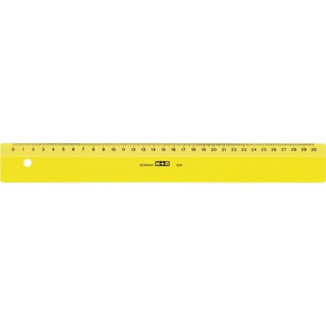 Rigla din plastic colorat, 30cm, M+R