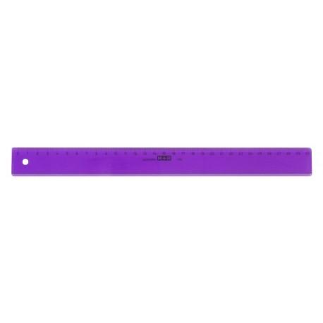 Rigla din plastic colorat, 30cm, M+R - violet