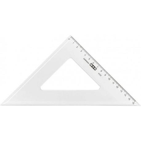 Echer 45 grade, 15 cm, plastic transparent, M+R
