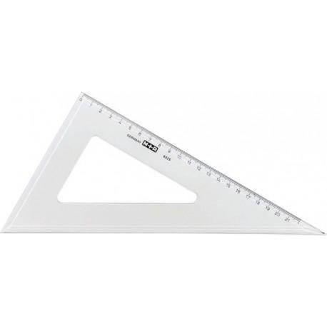 Echer 60 grade, 15 cm, plastic transparent, M+R