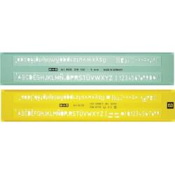 Sabloane pentru litere 6 mm, M+R