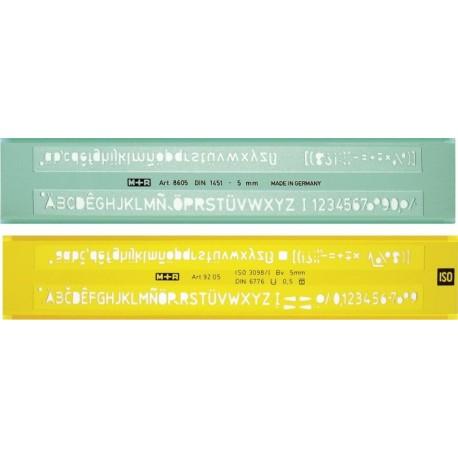 Sabloane pentru litere 2.5 mm, M+R