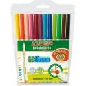 Carioca scriere subtire 2mm/groasa 4.5mm, 12 culori/set, ALPINO Bi-Linea