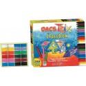 Creioane cerate soft, triunghilare, cutie carton, 24 x 12 culori/cutie, ALPINO DacsTrix Economy pack