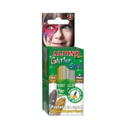 Set 2 culori machiaj, ALPINO Glitter - auriu/argintiu