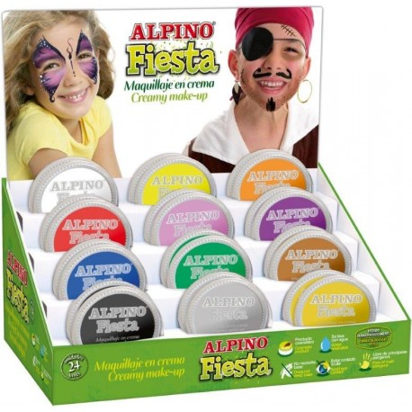 Display crema machiaj, 2 x 12 culori/display, ALPINO Fiesta