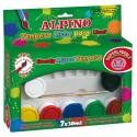 Tempera lavabila, 7 x 30ml/cutie + pensula gratis, Alpino