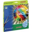 Creioane cerate acuarela, cutie carton, 24 culori/set, ALPINO Aquadacs