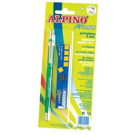 Creion mecanic 2mm + set mine 2mm, in blister, ALPINO Frost