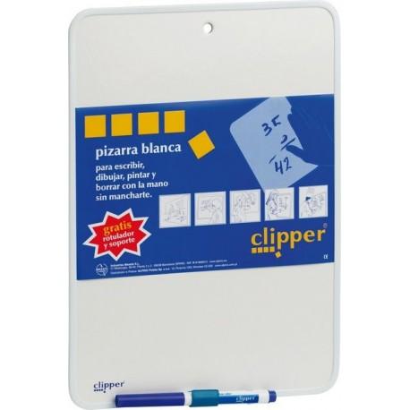 Tablita pentru scris 35 x 25 cm + marker, CLIPPER - alba