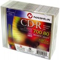 CD-R 700MB-80min Slimcase, 52x, Nashua