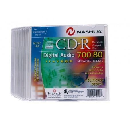 CD R 700MB-80min DIGITAL AUDIO ,Slimcase,Nashua