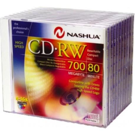 CD-RW 700MB-80min. HIGH SPEED, Slimcase, 16x, Nashua