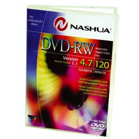 DVD-RW 4.7GB, Jewelcase, 4x, Nashua
