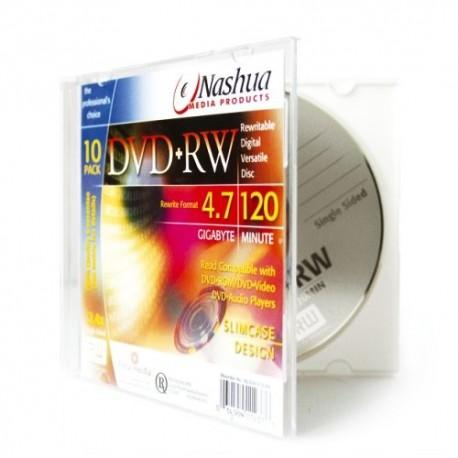 DVD+RW 4.7GB, Slimcase, 2x-4x, Nashua