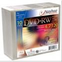 DVD+RW 4.7GB, Slimcase, 4x, Nashua