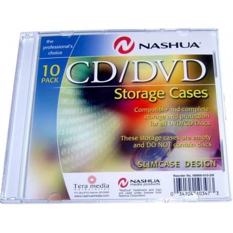 Carcasa stocare 1 CD/DVD , transparent/alb, Slimline (0,5mm)