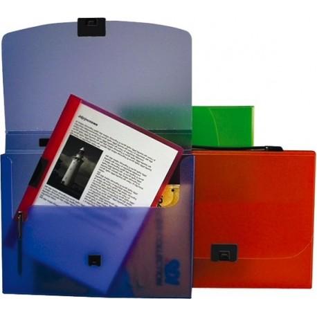 Servieta plastic cu maner, A4, 40mm capacitate, HFP-Verde