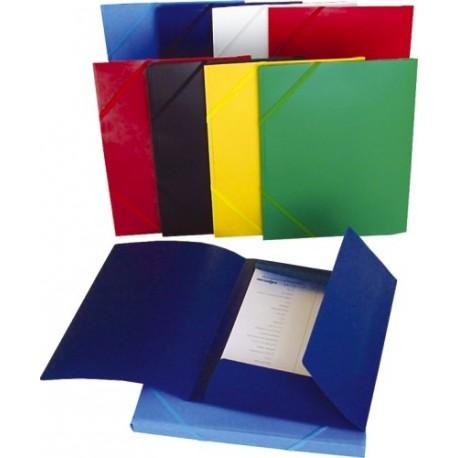 Mapa plastic cu elastic pe colturi, HFP - Bleu