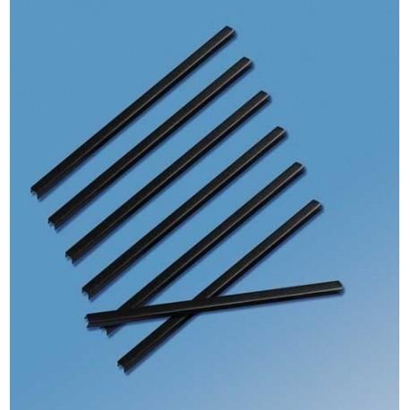 Sina metalica structura panzata, A5, 151-180 pag.(20 mm) 5 buc/set, Metal -BIND OPUS - negru