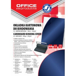 Coperta carton lucios 250g/mp, A4, 100/top, Office Products - bleumarin