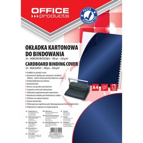 Coperta carton lucios 250g/mp, A4, 100/top, Office Products - bleumarin