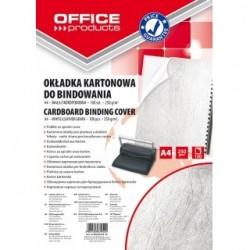 Coperta carton imitatie piele 250g/mp, A4, 100/top Office Products - alb