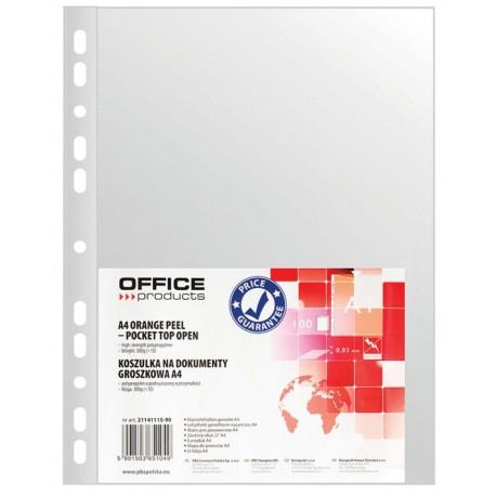 Folie protectie pentru documente A4, 30 microni, 100folii/set, Office Products - transparenta