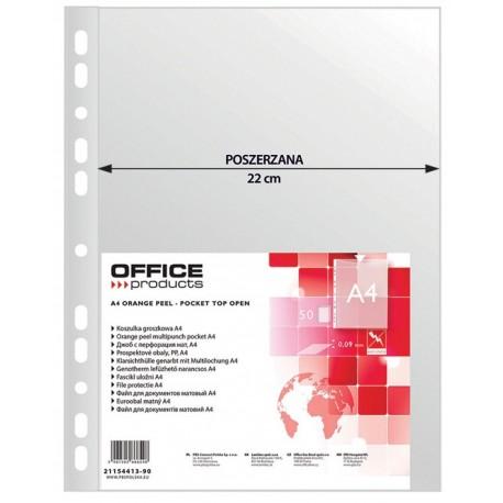 Folie protectie pentru documente A4, 90 microni, 50/set, Office Products Maxi - transparenta