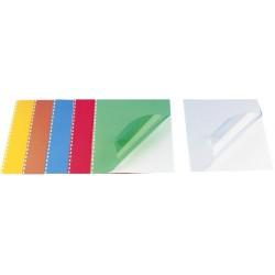 Coperta plastic A4, 200 microni, 100/top OPUS - rosu transparent