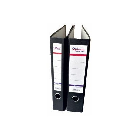 Biblioraft A4, margine metalica, 75mm, Optima Economy - marmorat