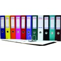 Biblioraft A4, plastifiat PVC/paper, margine metalica, 50 mm, Optima Budget - rosu