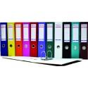 Biblioraft A4, plastifiat PVC/paper, margine metalica, 75 mm, Optima Budget - albastru