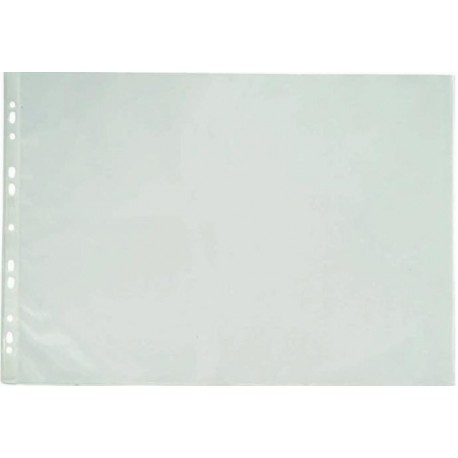 Folie protectie pentru documente A3 portret, 90 microni, 25/set, Optima - transparent