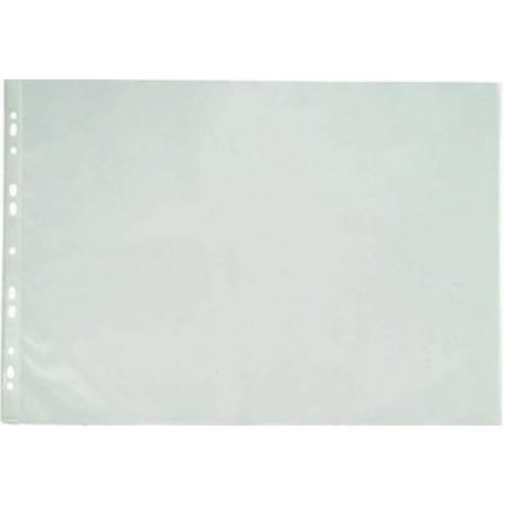 Folie protectie pentru documente A3 landscape, 90 microni, 25/set, Optima - transparent