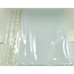 Folie protectie pentru documente A5, 80 microni, 50 buc/set, Optima - transparent