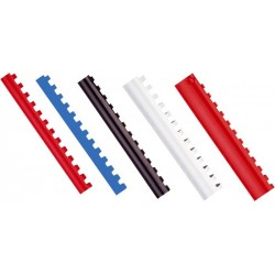 Inele plastic 10 mm, max 65 coli, 100buc/cut, Optima - negru