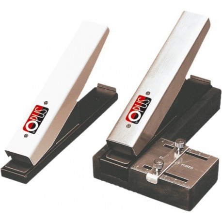 Perforator cu distantier reglabil gradat, pentru ecusoane laminate, OPUS