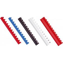 Inele plastic 6mm,1?25 coli, 100 buc/cutie, OPUS - Alb