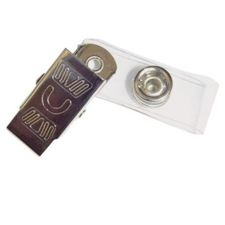 Clips din metal cromat pentru ecusoane OPUS