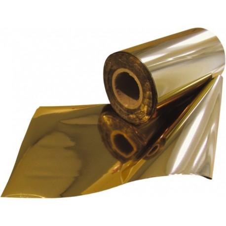Folie speciala lucioasa pentru folio, 18cmx122m, OPUS-Auriu