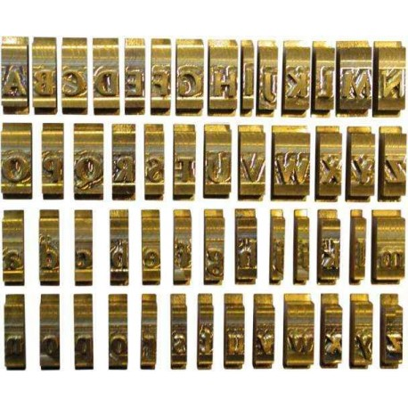 Set litere cu font latin Anglia, 6 mm, 58 litere/set, OPUS