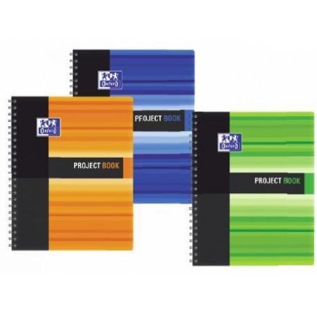 Caiet A4, spirala dubla, 100 file - 90g/mp, coperta PP, OXFORD Student Project Book - matematica