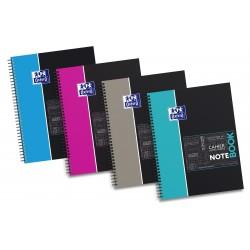 Caiet cu spirala A4+, OXFORD Student Notebook, 80 file-80g/mp, 4 perf., coperta carton rigid - mate