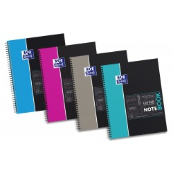 Caiet cu spirala A4+, OXFORD Student Notebook, 80 file-80g/mp, 4 perf., coperta carton rigid - dicta