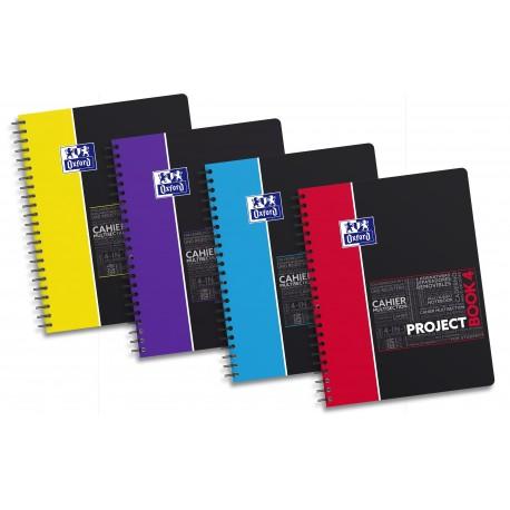 Caiet cu spirala A4+, OXFORD Student Projectbook, 100 file-90g/mp, 4 perf., coperta PP - mate