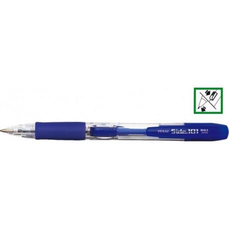 Pix cu rubber grip, PENAC Side 101 - safir - scriere albastra