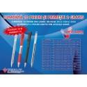 Pix cu rubber grip, varf metalic, PENAC RB-085B - albastru/PROMOTIE